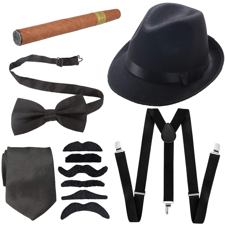 Get Quotations · 1920s Mens Accessories Hard Felt Panama Hat 7ce4b2e011d0
