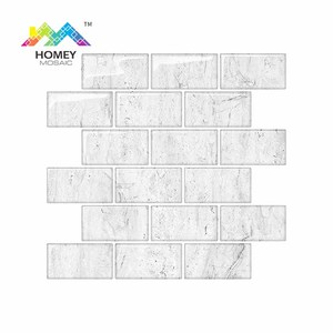 3D Mosaic Glass Mosaic Paper Mirror Wallpaper Tiles Stickers