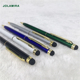 Customized high quality office twist mechanism metal ball pen with stylus touch
