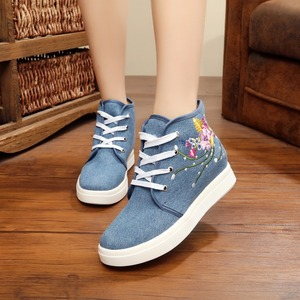 Light Wear Embroidery Shoes Shoes Lace-up Soft Women Shoes