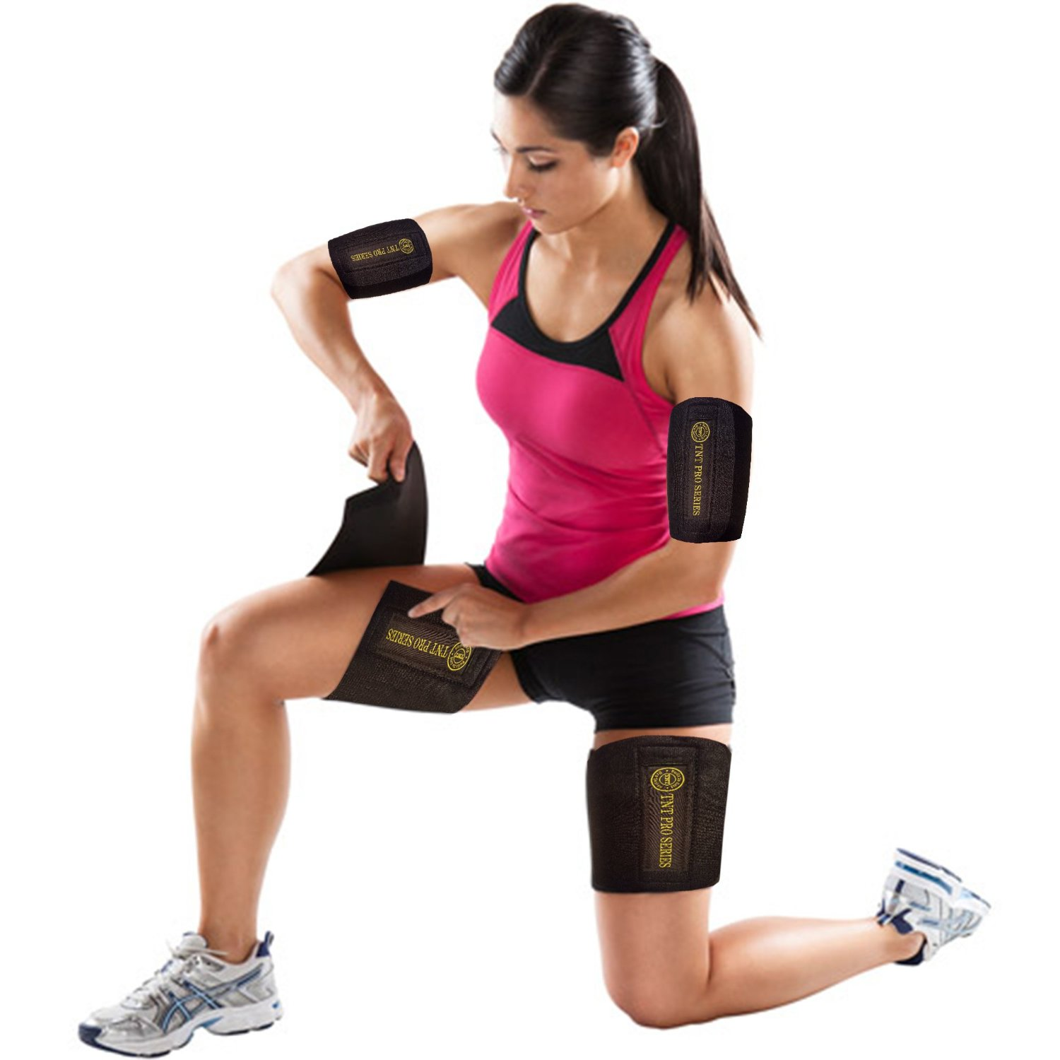 80f2526c32 TNT Body Wraps for Arms and Slimmer Thighs - Lose Arm Fat & Reduce Cellulite  - 4 Piece Kit
