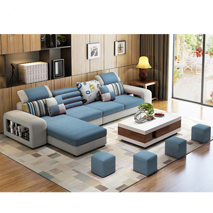 2019 New Design Sofa Cama L Shape Sofa Set Modern Couch Living Room Sofa With Ottoman