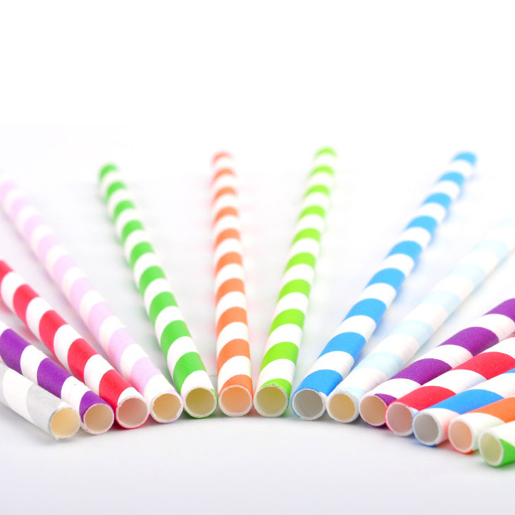 BPA Free Wholesale Reusable biodegradable Plastic Drinking Paper Straws With Customized Logo