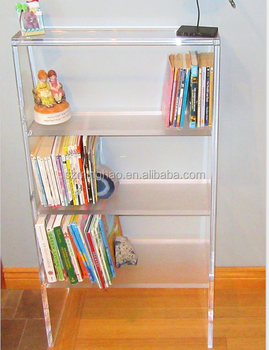 Modern Clear Acrylic Standing Bookshelf Display Bookrack