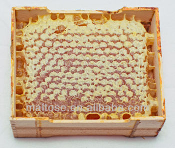 Natural Comb Honey with Wooden Frame and Wax