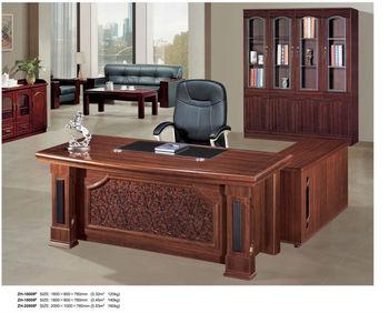 Fina madera maciza escritorio de oficina moderna zh 16009 - Escritorios de madera para oficina ...