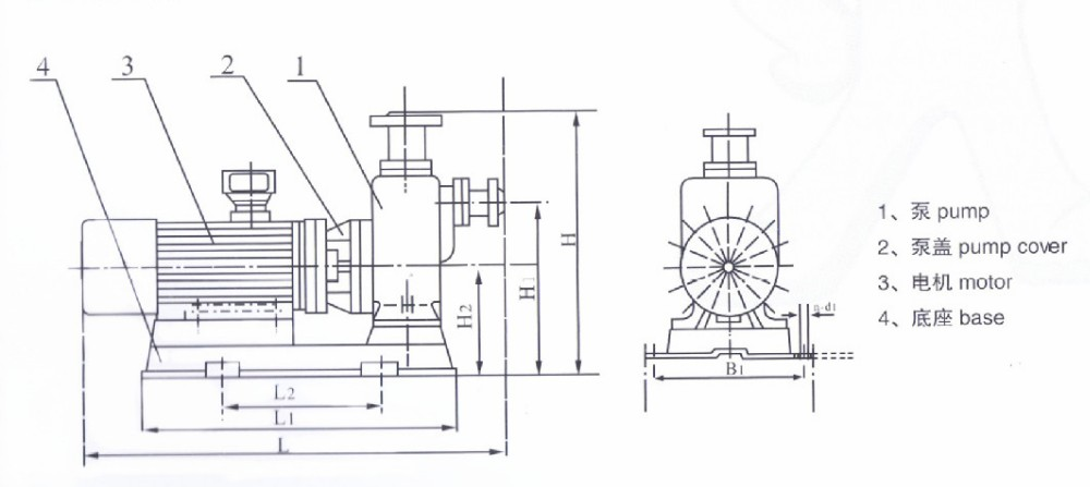 zwl inline drain pump for waste water electric self