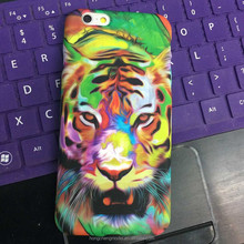 Water Transfer Printing Soft TPU Matte Back Cover Case For iPhone 6s Plus New Forest King