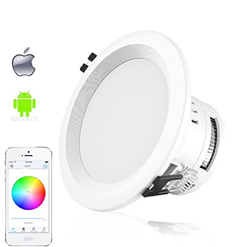 RGBW+CCT led downlight 16 million colors wifi control round recessed down light