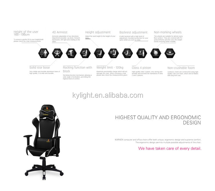 karnox ergonomic gaming chair, high-end office chair, racing sports office chair
