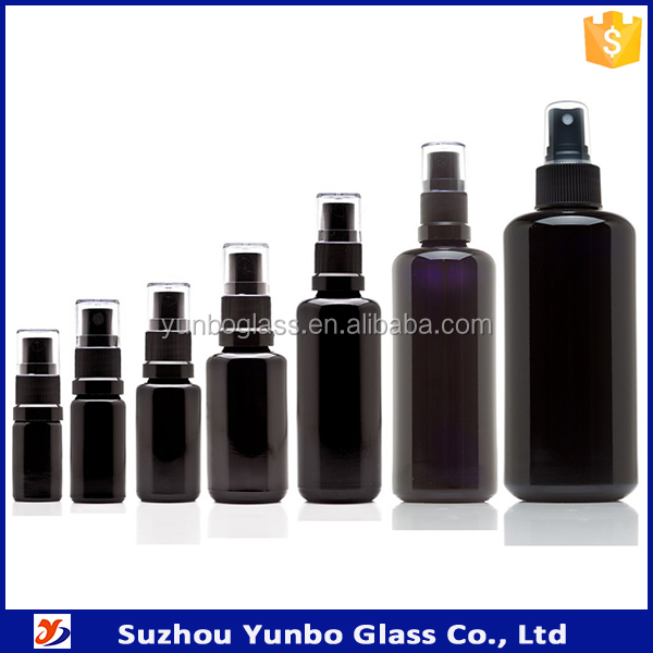 5ML 10ML 20ML 30ML 50ML 100ML Black Ultraviolet Glass Fine Mist Spray Bottle