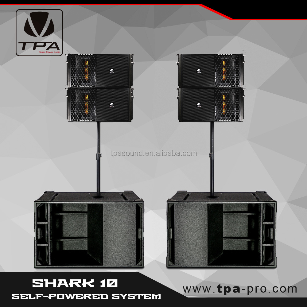TPA SHARK 10 versatile-mobile self-powered sound system/active PA speakers