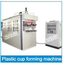 Plastic products thermoforming automatic plastic drink glass cup machine
