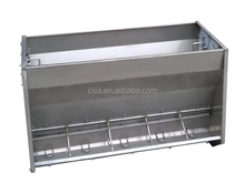 Stainless double trough for pig