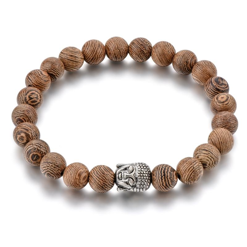 Top Sell Buddha Spiritual Bead Bracelet Handmade Wooden Bead Bracelet, Same as pictures