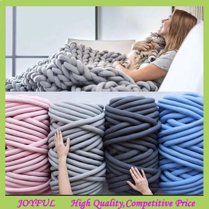 Chunky Yarn Arm Super Thick Knitting Handmade Blankets Sofa Pet Bed Rug Cotton core Yarn