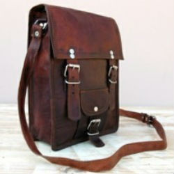 Goat Leather Vintage style Leather Travel bags-06