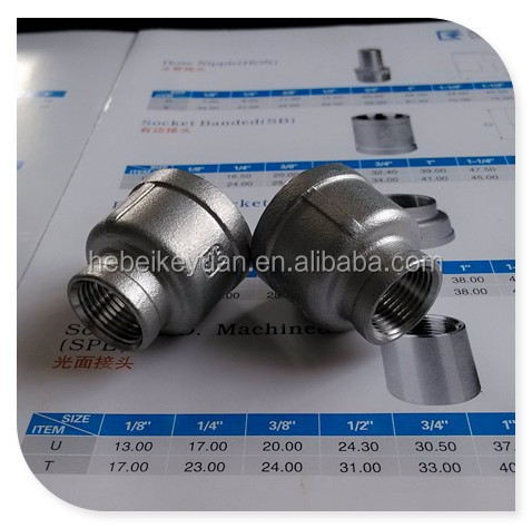 150# casting fitting ss304 npt threaded bell reducer