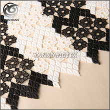 China Textile High-End Black Flat African Embroidery Lace Fabric