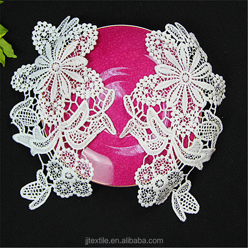 flower embrodered collar lace trim applique