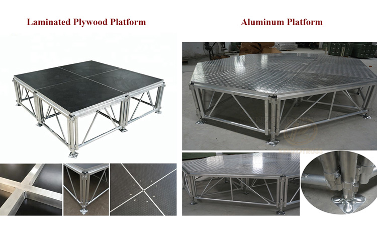 Outdoor Concert Stage Aluminum Acrylic Wedding Stage