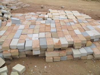 Mischfarbe Sandsteinplatte Sandstein Kopfsteinpflaster Fliesen