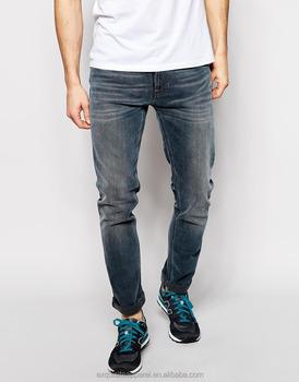 790c59d2f 2016 diseño personalizado en blanco jeans al por mayor cepillado Jeans para  hombres Custom logo marca