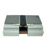 Marble floor rubber expansion joint filler with aluminum base profile
