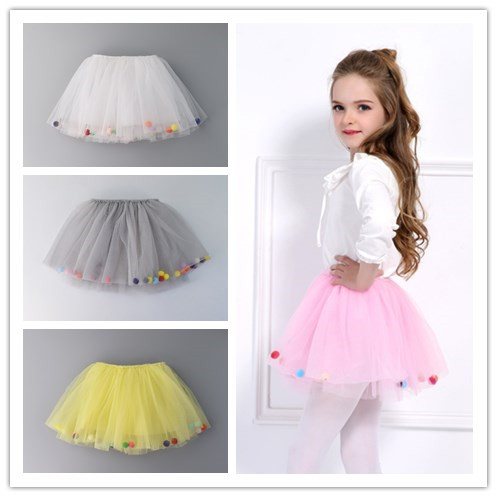 4 Layers Balls Girls Tutu Skirt Soft Mesh Lace Baby Wild Bottoming Princess Skirt Kids Cute Ball Gown Dance Pettiskirt