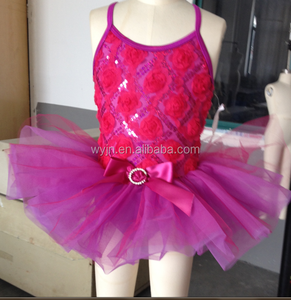 2015 kids' flower dress- cheap price fast delivery -girls leotard dance ballet dress skirt tutu