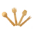 Customized Size Disposable Wood Measuring Spoon Fork Spoon Knife Set Tableware