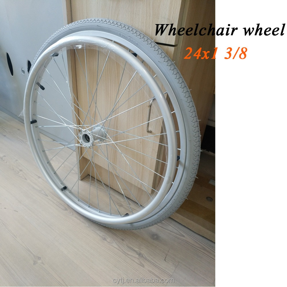 All aluminum alloy made wheel 24 x 1 3/8 for wheelchair
