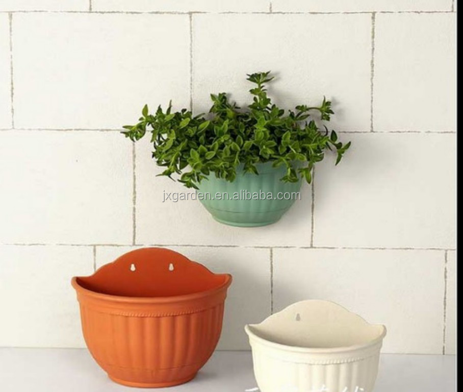 Plastic Half Round Wall Planter Pot For Flower Buy Wall Planter Pot