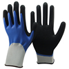 NMSAFETY comfort blue construction worker nitrile grip gloves