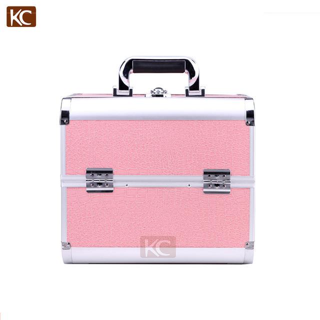52ad60d5c Profesional portátil, de aluminio Rosa herramienta vanidad caso Rosa belleza  caso tren caso cosmético belleza