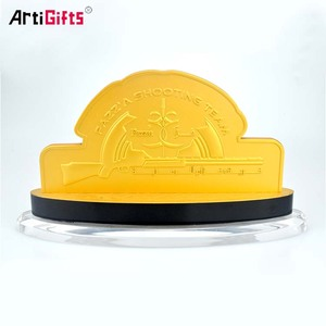 Metal Medal Acrylic Holder Mini Shooting Shields And Trophy
