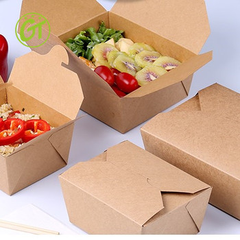 Water proof good quality take away paper box for food