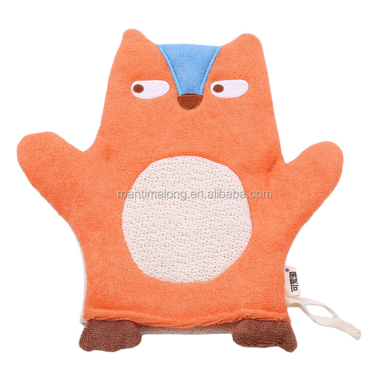 Cartoon Dier Zachte Baby Bad Handschoen Mitts Body Scrubber