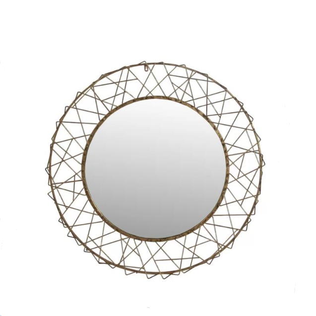 Bathroom Gold 3d Round Metal Wire Hanging Mirror Wall Decorative Mirrors China Mirror Factory Directly Buy Decorative Wall Mirror Wall Round Mirror Butterfly Wall Mirror Product On Alibaba Com