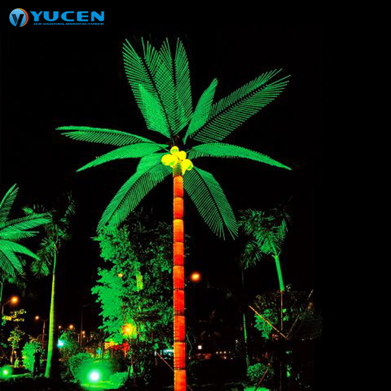 Led Coconut Tree Light City Outdoor Metal Artificial Decorative Palm Trees Lamp View Yuechen Product Details