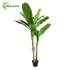 Indoor Wedding Decoration Wooden Bonsai Decor Product Artificial Banana Tree