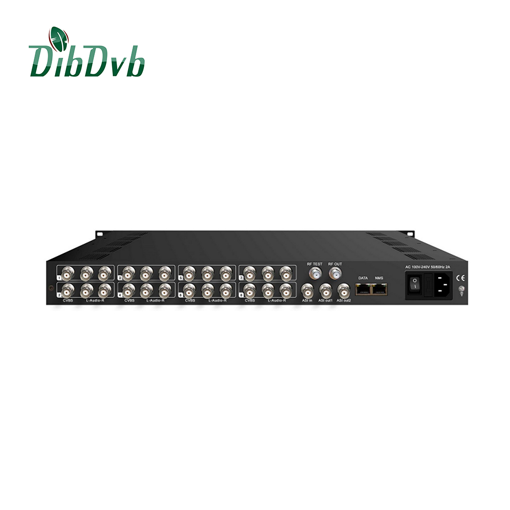 8 CVBS input av to ip hotel system modulator 8 channels rf modulator
