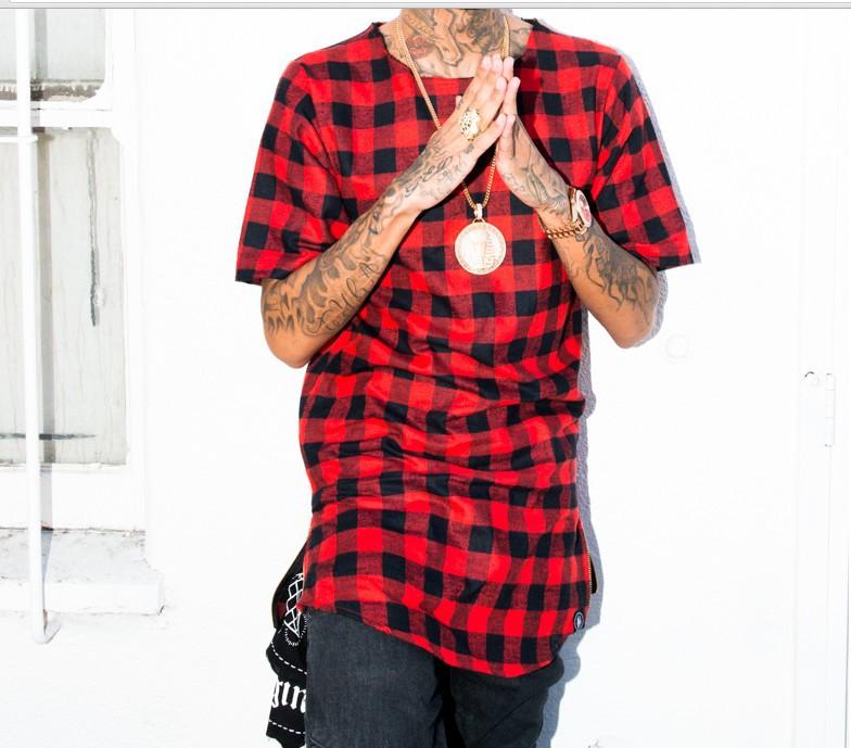 68f50c98b56f Tyga 2015 Swag Red Men t shirt tyga cool oversized Gold side zipper hip hop  Tyga cool oversized Gold side zipper T shirt Tee men