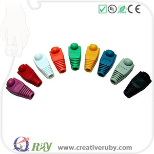 2017 Diverse PVC material network cable RJ45 Connectors Protective Sleeve/boots