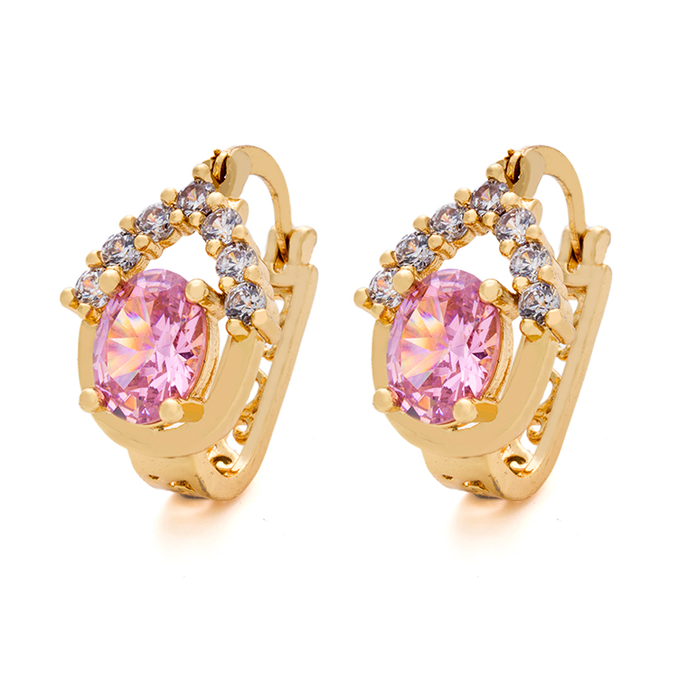 Popular Jewellery Designs Rose Gold Tanishq Pink Diamond Earrings ...