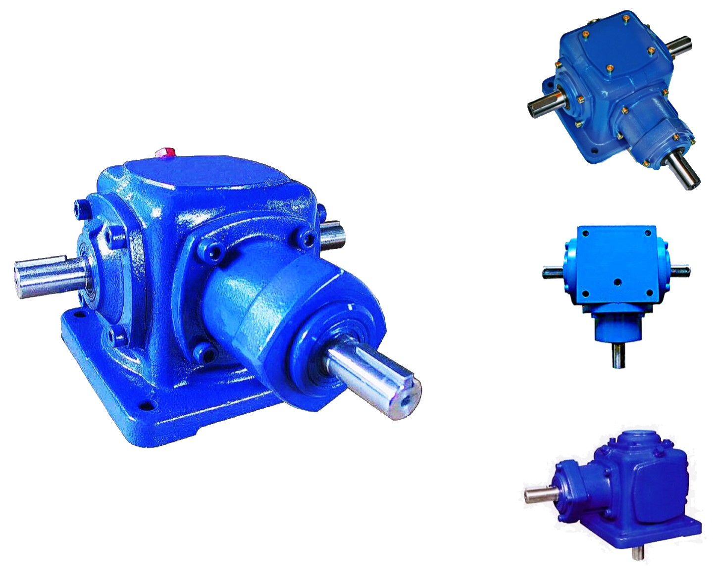 SAINEER T series double output 4 way bevel steering gearbox