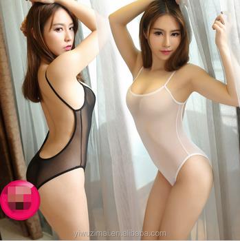 Woman in sheer lingerie