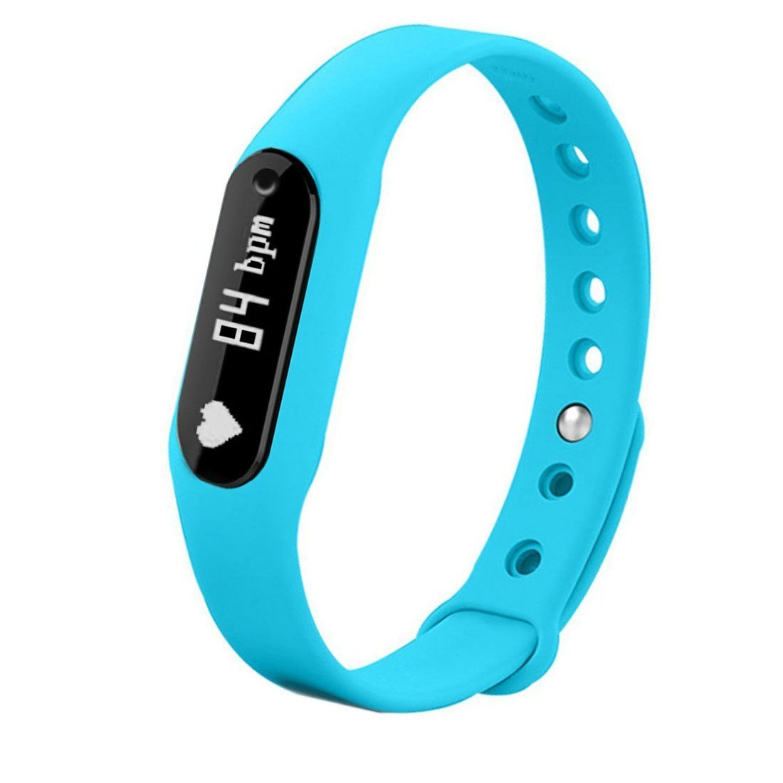 Bestseller2888 Smart Band Heart Rate Monitor/ Smartband/ Smart Wristband/ Smart Bracelet Fitness Wearable Activity Tracker/ Waterproof Bluetooth Health Fitness Band-Blue