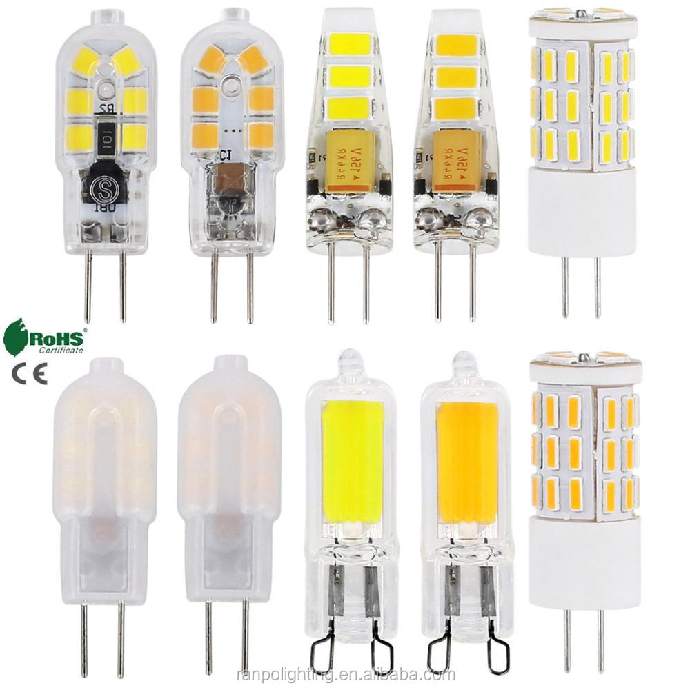 G4 3W 4W 5W LED Corn Light  Bulb Crystal Replace Halogen Lamp AC//DC 12V 220V