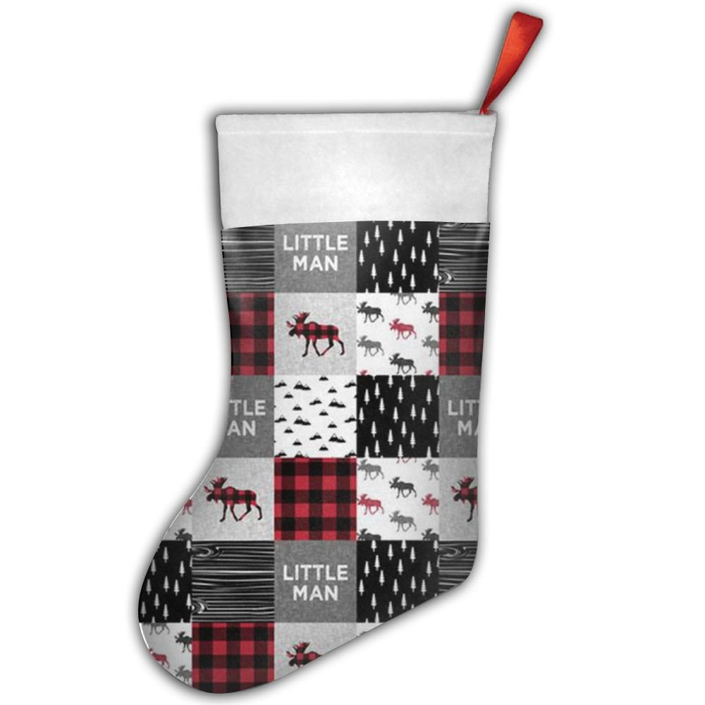 get quotations buffalo plaid moose novelty cool christmas stockings fashionable polyester flannelette gift bag for baby christmas decorations